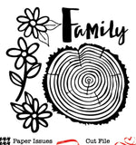 Rings Of Life Family Tree-Free Cut File
