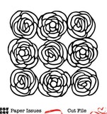 Rosey Posey Background Free Cut File