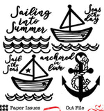Sailing Into Summer-Free Cut File