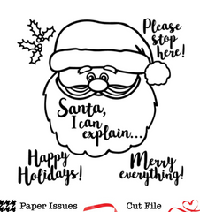 Santa, Please Stop Here-Free Cut File