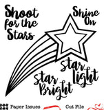 Shooting Star-Free Cut File