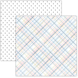 Plush Plaid 12x12 Paper-Pretty Little Studio Glitter & Ice