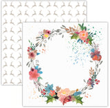 Festive Wreath 12x12 Paper-Pretty Little Studio Glitter & Ice