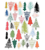 Fir Tree Die Cuts-Glitter & Ice-Pretty Little Studio