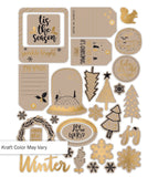 Gold & Kraft Die Cuts-Glitter & Ice-Pretty Little Studio