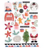 Santa Is Coming Die Cuts-Glitter & Ice-Pretty Little Studio