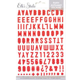 Red Puffy Alphabet Stickers-Elle's Studio
