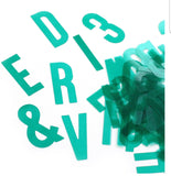 Teal Acetate Die Cut Alphabet-Elle's Studio