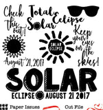 Solar Eclipse-Free Cut File