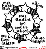 Star Student Wreath-Free Cut File