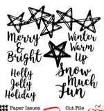 Starry Winter Nights-Free Cut File