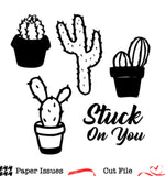 Stuck On You Cactus Free Cut File