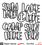 Summer Camp-Free Cut File