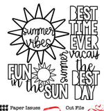 Summer Vacay Vibes-Free Cut File