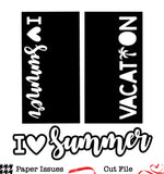 I Heart Summer Vacation TN Pages-Free Cut File