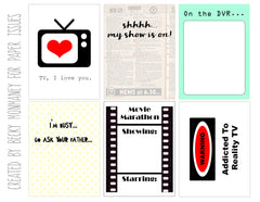 TV, I Love You Free Printable File
