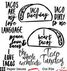 Taco Tuesday-Free Cut File