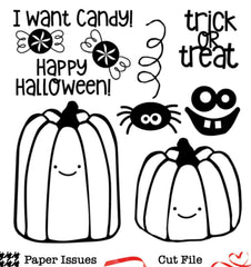Trick Or Treat Sweets-Free Cut File