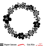 Tropical Florals Wreath Free Cut File
