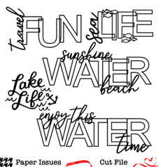 Water Words-Free Cut File