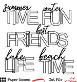 What Time Summertime -Free Cut File