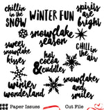 Winter Sweater Weather Words-Free Cut File