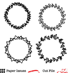 Wreaths Free Cut File