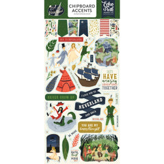 Chipboard Accents Stickers-Echo Park Lost In Neverland