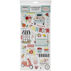 Chipboard Accents Stickers-Summer Market-Carta Bella