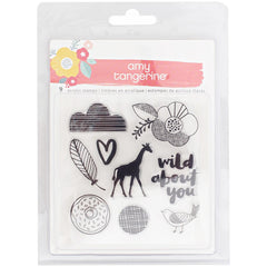 Oh Happy Life Acrylic Stamp Set-Amy Tangerine