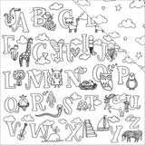 Alphabet 12x12 Coloring Paper-American Crafts Hall Pass