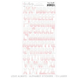 Love Always Ombre Alphabet Sticker Sheet-Cocoa Vanilla