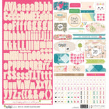 Alphas & Tags Accent Stickers Sheet-My Happy Place-Webster's Pages