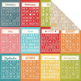 Bingo Cards/Months 12x12 Double Sided Paper-Simple Stories Daily Grind