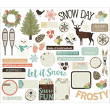 Winter Wonderland Bits & Pieces Ephemera-Simple Stories