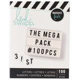 Black Alphabet & Numbers Mega Pack-Heidi Swapp Lightbox