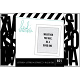 "Black 1""  Narrow Alphabet-Heidi Swapp Letterboard whatever you are"