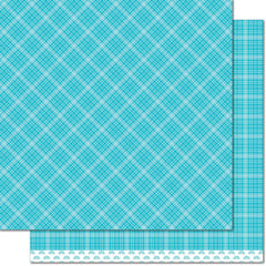 Blue Raspberry 12x12 Paper-Lawn Fawn Perfectly Plaid Rainbow