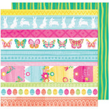Bonny Bunny 12x12 Paper-American Crafts Hello Spring