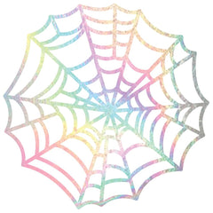 Bootiful Night 12x12 Holographic Spider Web Cardstock-American Crafts Halloween