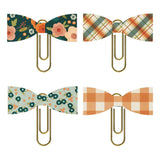 Paper Bow Clips-Fall Farmhouse-Simple Stories
