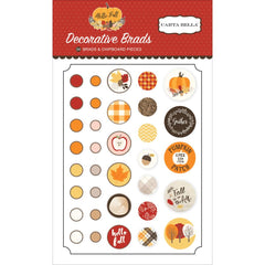 Hello Fall Brads & Chipboard Stickers-Carta Bella