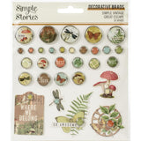 Decorative Brads-Simple Stories Vintage Great Escape