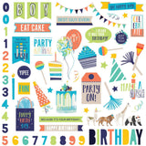 Party Animal Element Stickers-Photo Play Cake