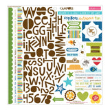 Campout Treasures & Text 12x12 Stickers Bella Blvd Fundamentals