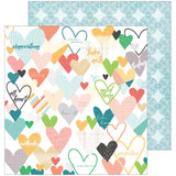 Caper 12x12 Paper-Pinkfresh Studio Let Your Heart Decide