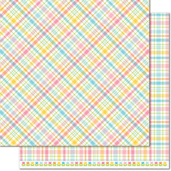 Carnation 12x12 Paper-Lawn Fawn Perfectly Plaid Spring