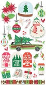 Chipboard Stickers-Cottage Christmas-Fancy Pants