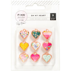 Oh My Heart Charm Set-Pink Paislee