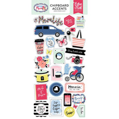 6x12 Chipboard Stickers-I Am Mom-Echo Park